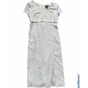 (16) short sleeve cream dress Simple Sophisticated